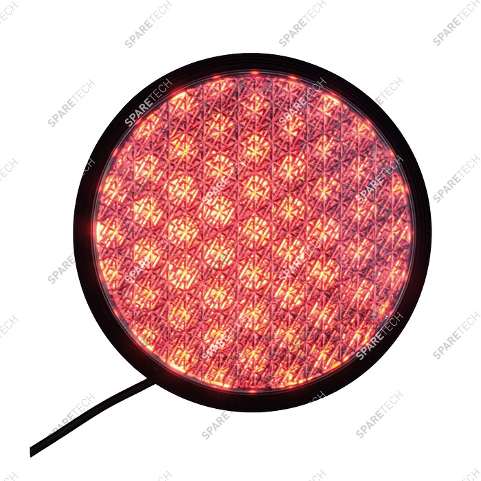 Lampe feu rouge à LED 220V, D. 200mm