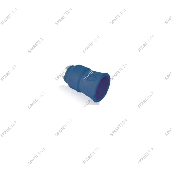Protection et support de buse bleue F1/4""