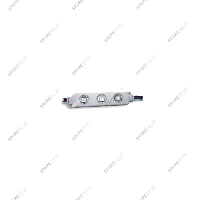 Module 3 LED multicolore 12VDC, 12 lumens, IP65, 0.72 W