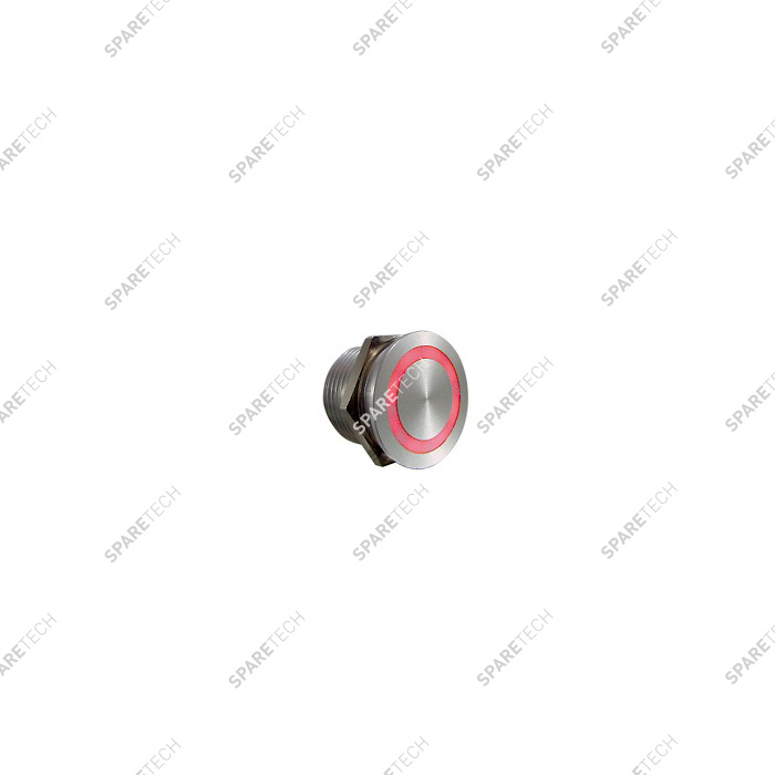 Bouton PIEZO RGB à collerette LED, 24VDC, 22mm IP68